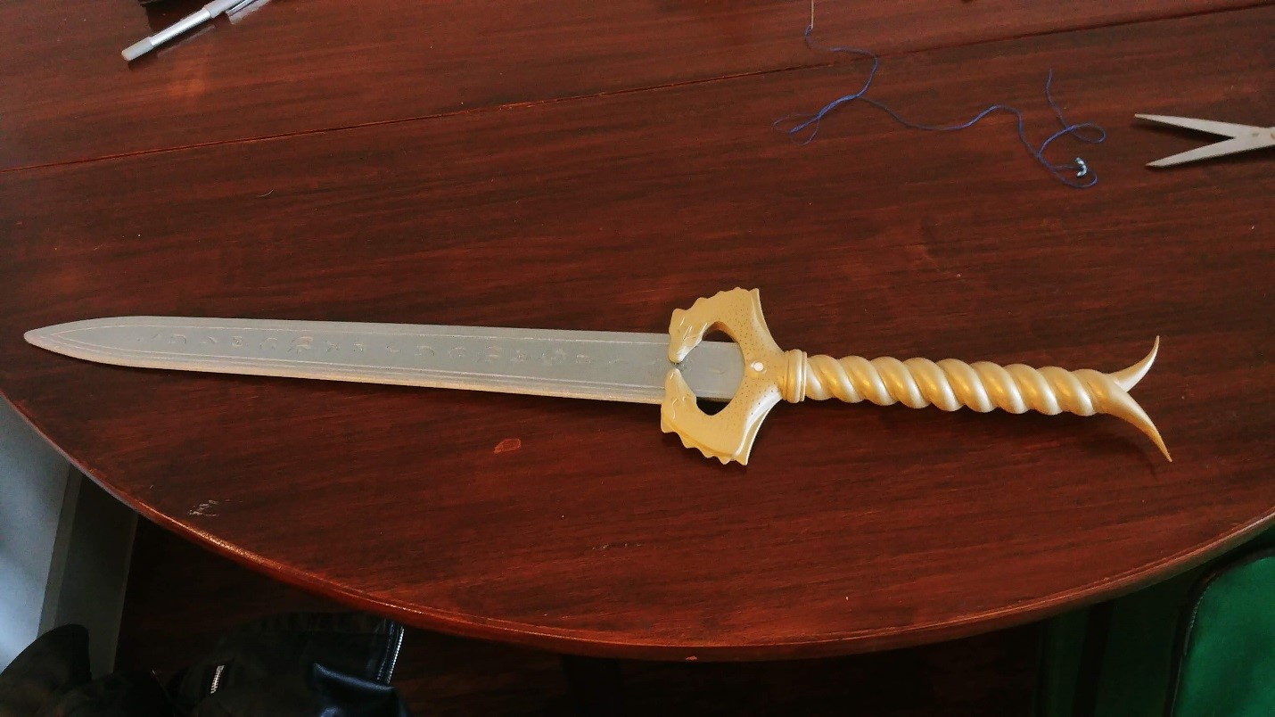 3D Printed Wonder Woman Sword Painted