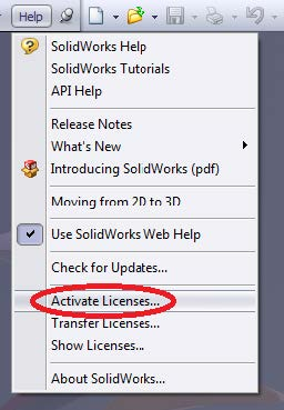 activate solidworks license
