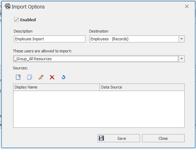 Adding Import Sources in SOLIDWORKS Manage