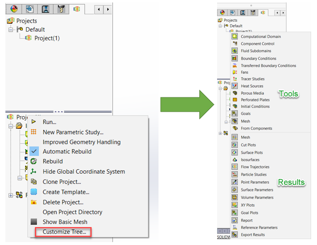 Add New Categories to the Input Folder in SOLIDWORKS Flow Simulation