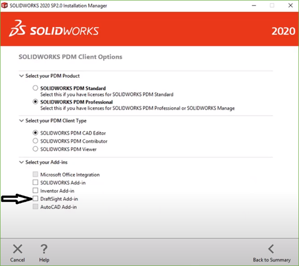 Add SOLIDWORKS PDM to DraftSight