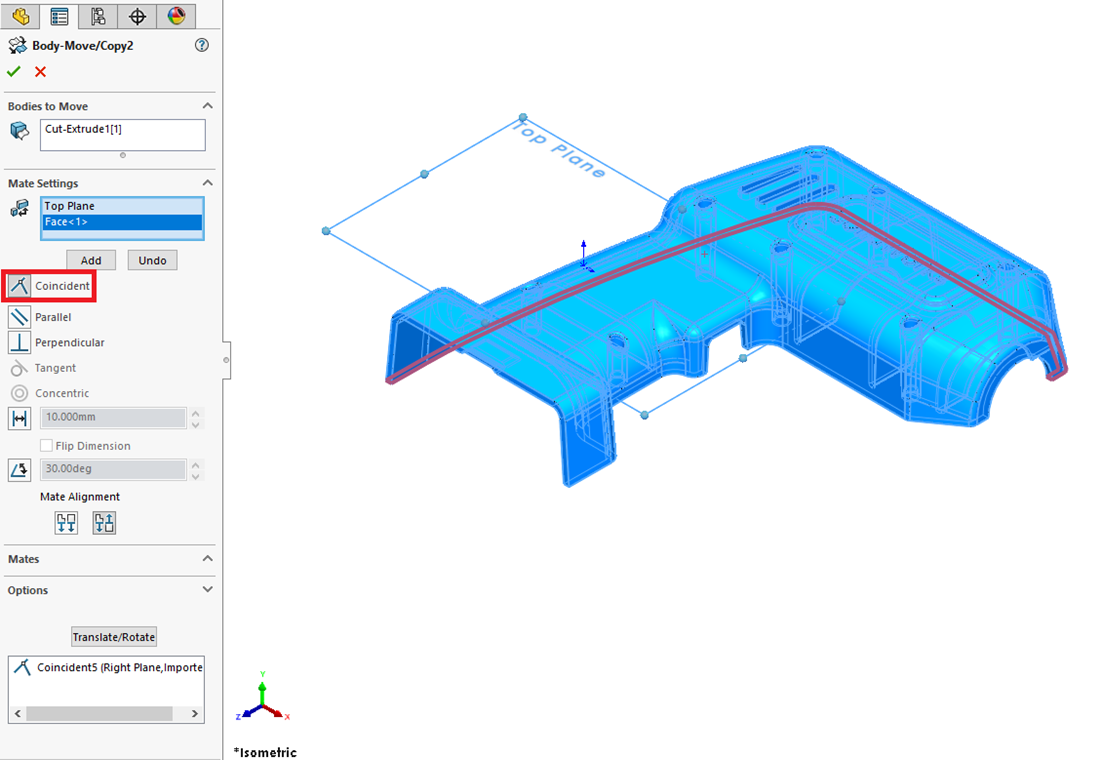 Adding Constraints in SOLIDWORKS Mate Settings