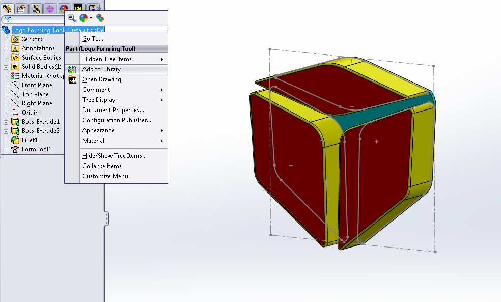 Adding Tool to SOLIDWORKS Design Library