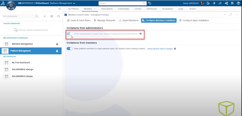 Admin Access to 3DEXPERIENCE Platform