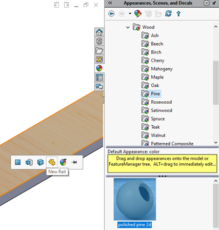 Applying SOLIDWORKS Appearances Tutorial
