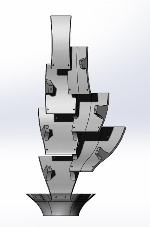 Artichoke Lamp Shade CAD Model