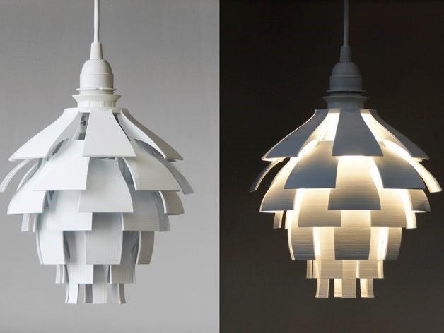 3D Printed Artichoke Lamp Shade