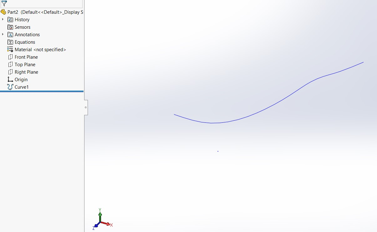 Blue Curve in SOLIDWORKS Using Excel