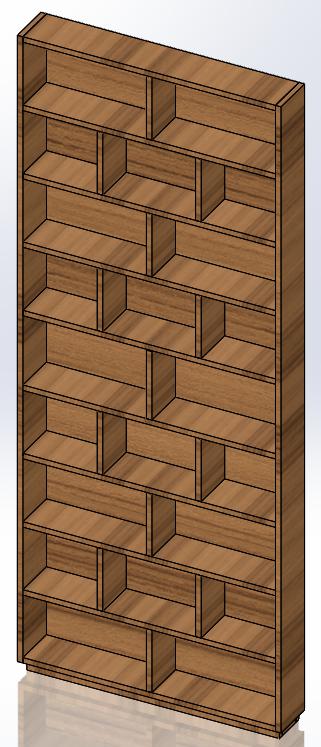 Bookcase Designed in SOLIDWORKS
