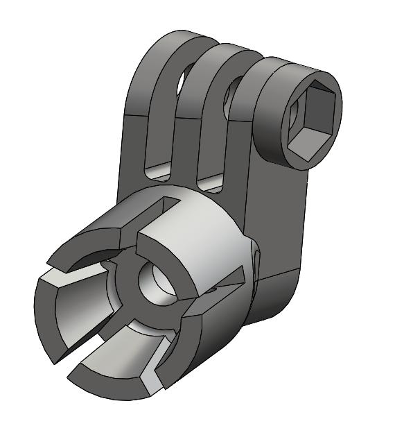 CAD model for custom gopro mount