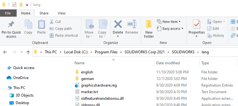 How to Change the Language in SOLIDWORKS 2021