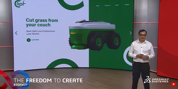 Clipt Lawn Mowers at 3DEXPERIENCE World 2021