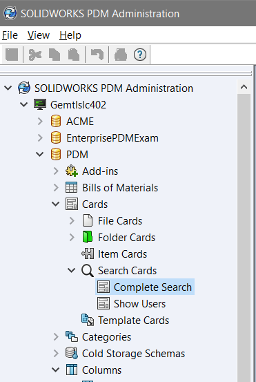 Complete Search SOLIDWORKS PDM Administrator