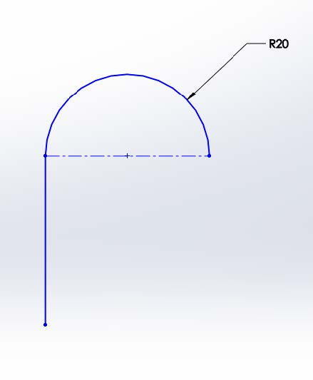C-1 Continuity Sketch in SOLIDWORKS