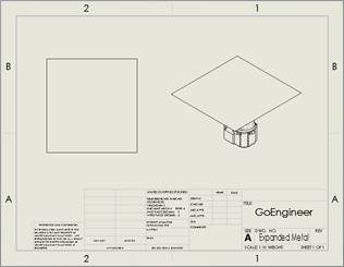 Create a Drawing in SOLIDWORKS