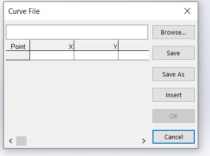 Curve File Popup Window