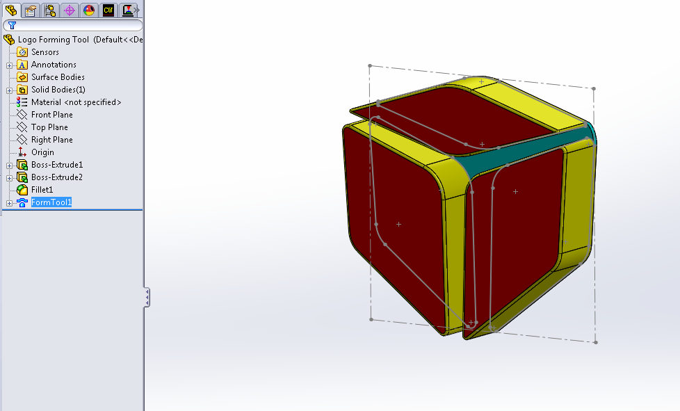 Custom Forming Tools in SOLIDWORKS