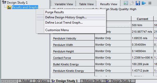 Define Design History Graph in SOLIDWORKS
