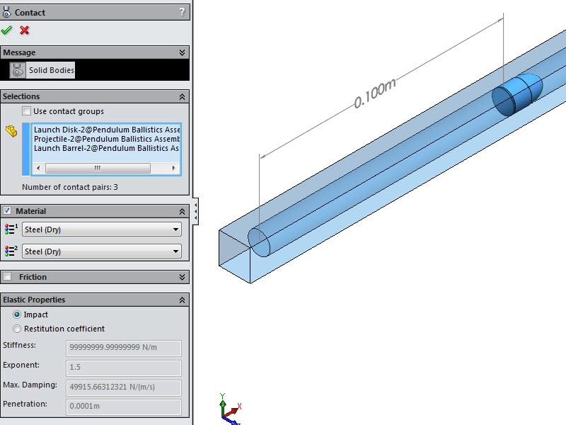 Defined Contact Conditions in SOLIDWORKS Motion