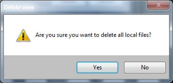 Confirm Delete Local Files