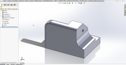 SOLIDWORKS Derived Part from Mirror