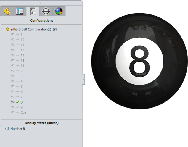 Display States Configurations in SOLIDWORKS