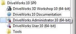 DriveWorks Administrator Activation