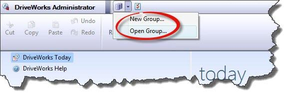 DriveWorks Administrator Open Group