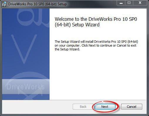 DriveWorks Pro Admin Setup Wizard