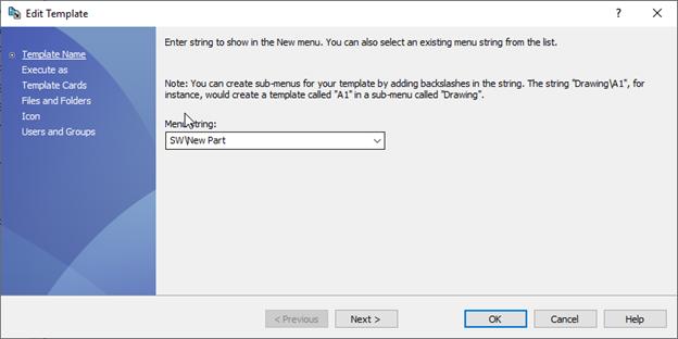 Edit Templates SOLIDWORKS PDM