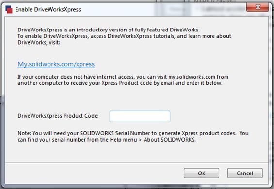 Enable DriveWorksXpress