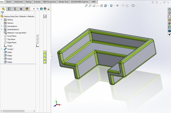 SOLIDWORKS Feature Paint CAD Example