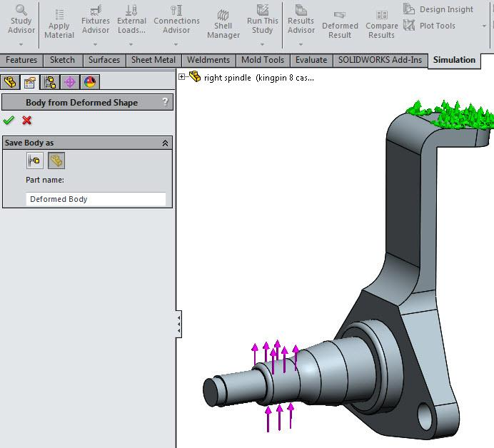 How to Export a Deformed Body in SOLIDWORKS Simulation