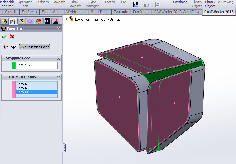 Faces to Remove in SOLIDWORKS