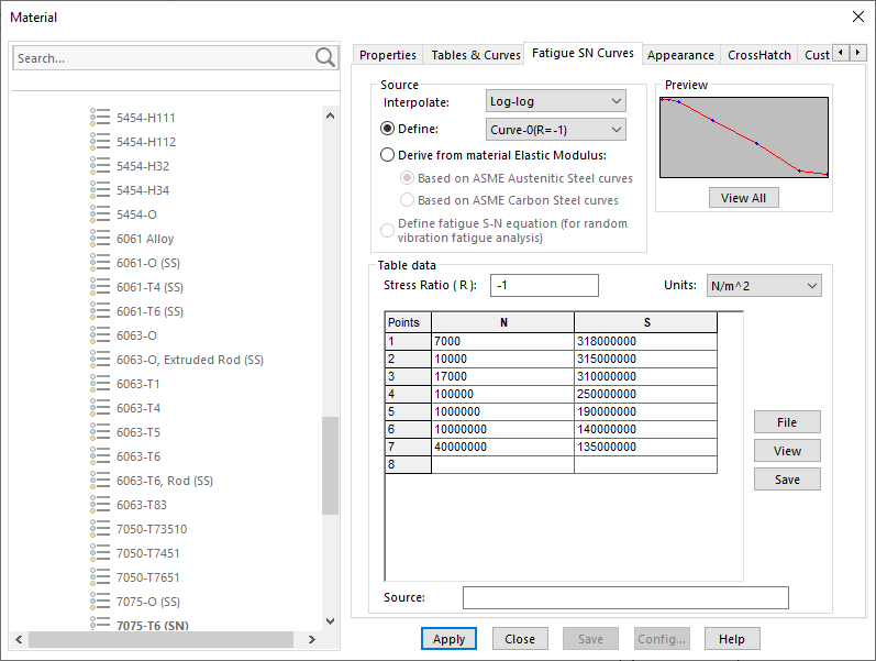 Defining the fatigue data SOLIDWORKS simulation