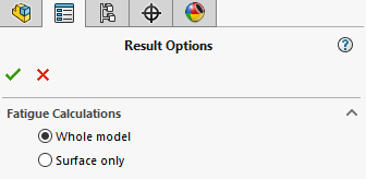 Result options SOLIDWORKS simulation fatigue analysis