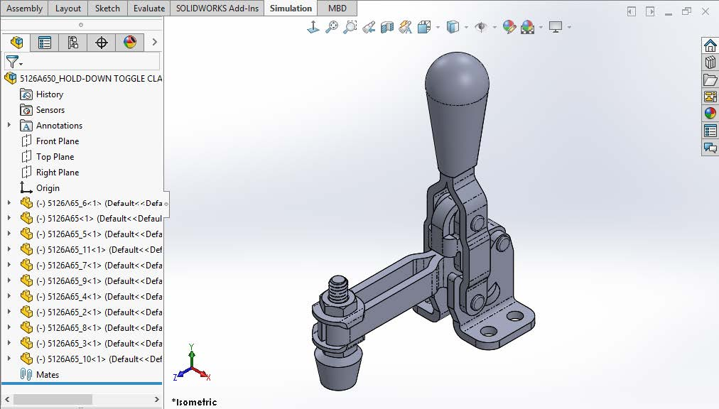 Floating Parts in a SOLIDWORKS Assembly