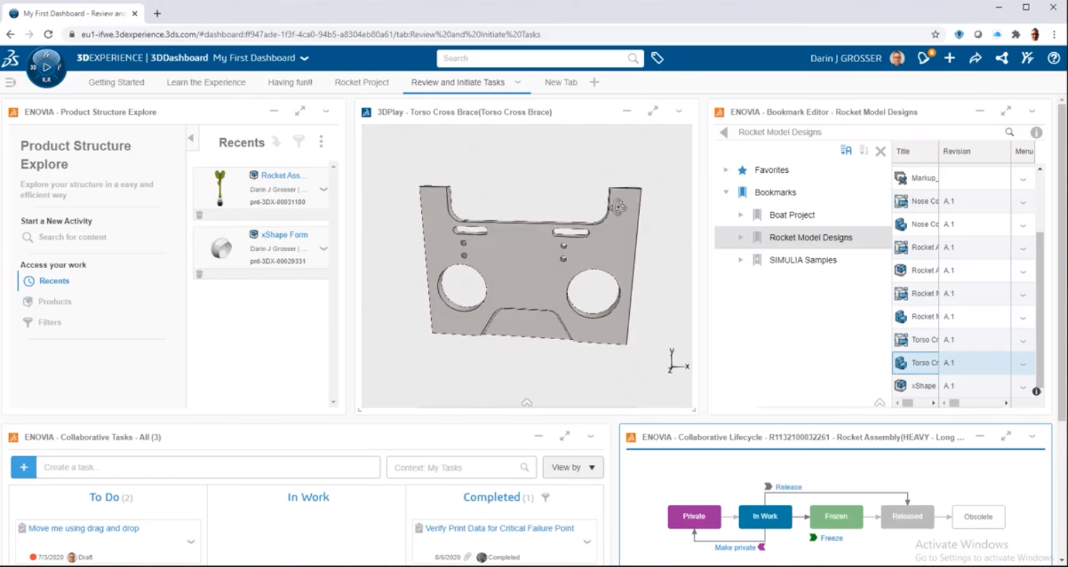 Getting Started with 3DEXPERIENCE Setup, Dashboards, and Connectors