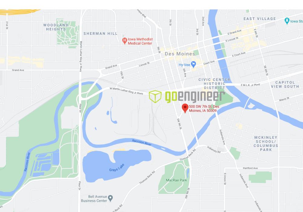 GoEngineer Des Moines, Iowa Location Map Address