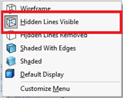 Hidden Lines Visible Option in SOLIDWORKS