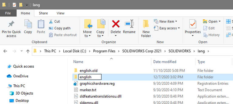 How to Change a Language in SOLIDWORKS 2021