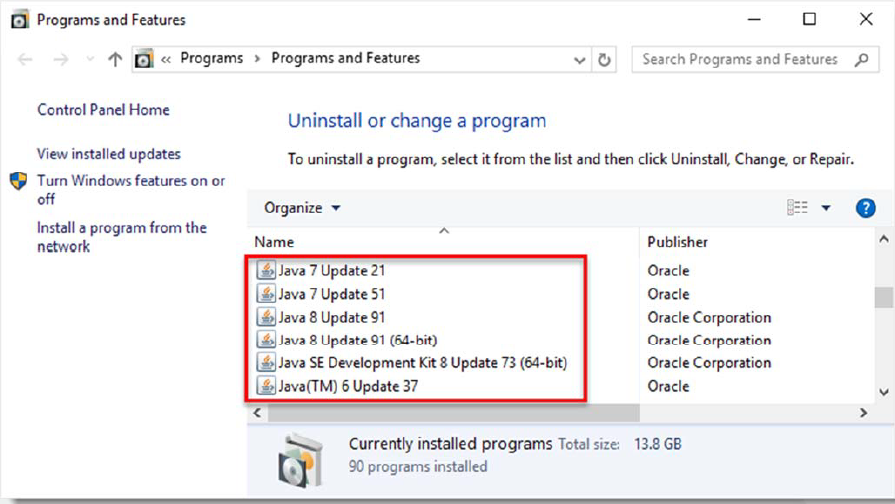 How to Uninstall Java