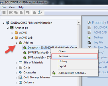 How to Update SOLIDWORKS PDM Dispatch Add-In