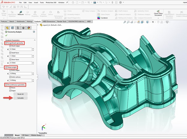 How to use Geometry Analysis in SOLIDWORKS