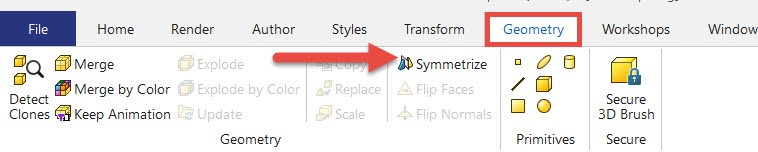 How to use Symmetrize in SOLIDWORKS Composer
