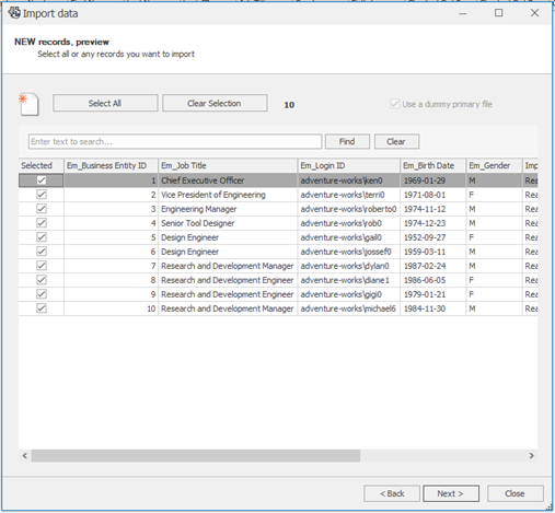 Import Records Using a Source in SOLIDWORKS Manage