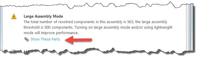 Large Assembly Mode Definition SOLIDWORKS