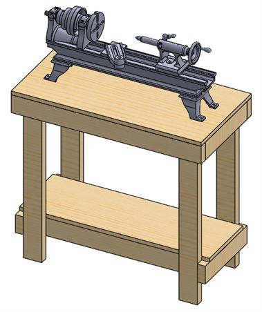 Lathe Stand SOLIDWORKS CAD Design