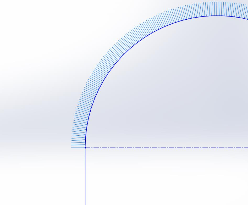 Line and Arc Sketch with Curvature Combs in SOLIDWORKS