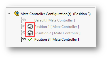 Mate Controller Configurations in SOLIDWORKS